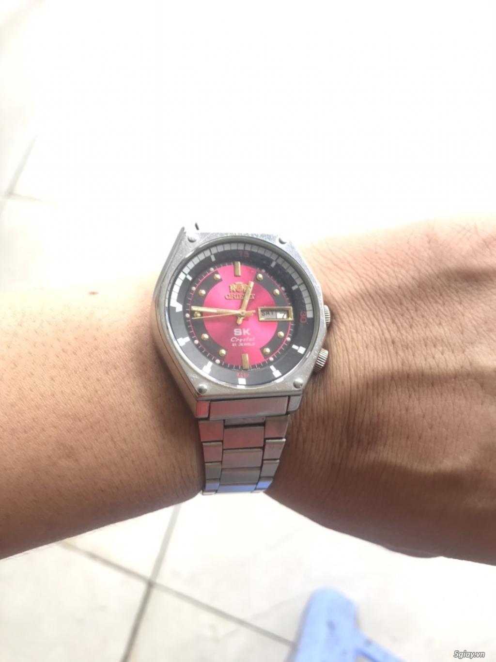 Đồng hồ Orient. Mặt cánh sen hồng