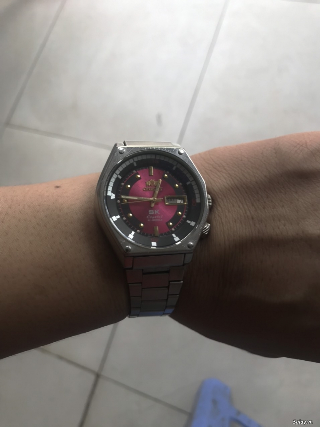 Đồng hồ Orient. Mặt cánh sen hồng - 1