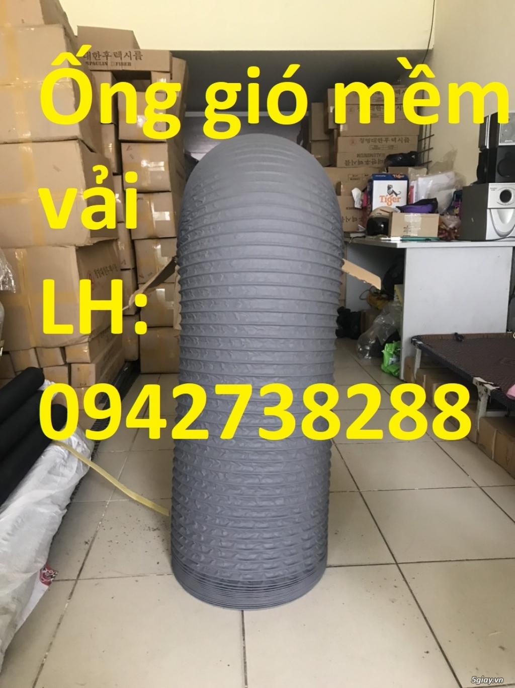 Nơi bán ống gió mềm vải Tarpaulin phi 150 hàng có sẵn - 1