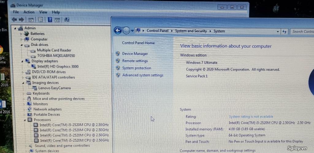 Laptop Lenovo i7 học tập, văn phòng, game rất tốt - 4