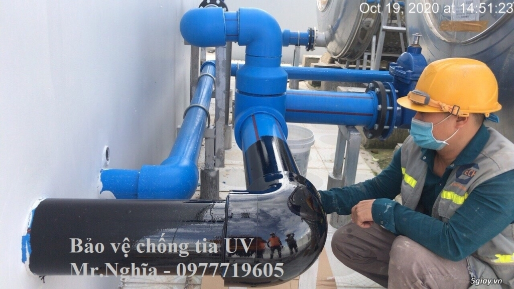 Premseal băng dán chống tia UV bảo vệ ống PPR, uPVC, HDPE