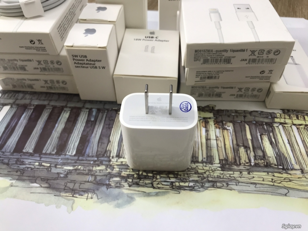 ⭐ Củ sạc - cốc sạc - cáp sạc - 5W - 20 W chính hãng Apple - 2