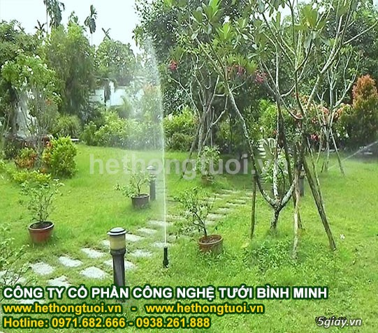 Thiết kế hệ thống tưới cỏ, béc phun nước tưới cỏ, béc phun nước tưới