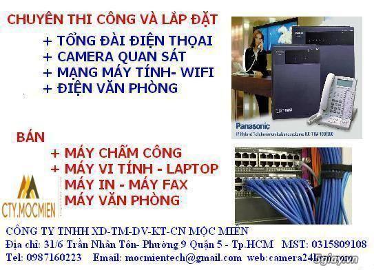 Chuyên Thi Công Điện Nhẹ: Mạng, Wifi, Camera,Vi Tính, Khoá Vân Tay