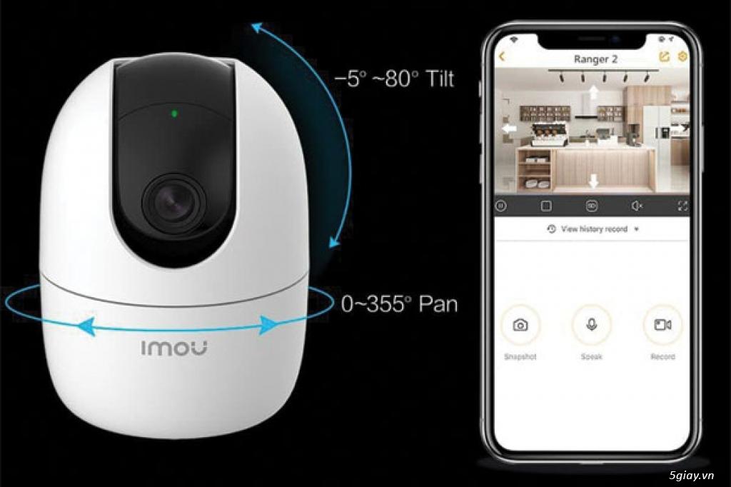 Camera wifi k dây trong nhà quay 360 đàm thoại 2 chiều - 1