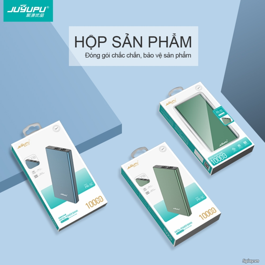 SALE SỐC 198K SDP 10.000mAh Led hiển thị phần trăm pin, cổng USB 2A - 2