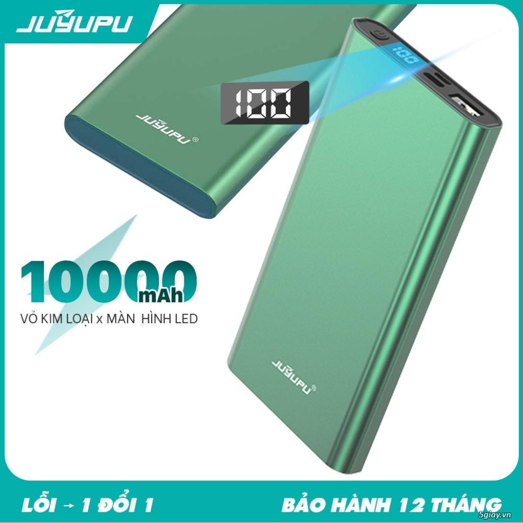 SALE SỐC 198K SDP 10.000mAh Led hiển thị phần trăm pin, cổng USB 2A