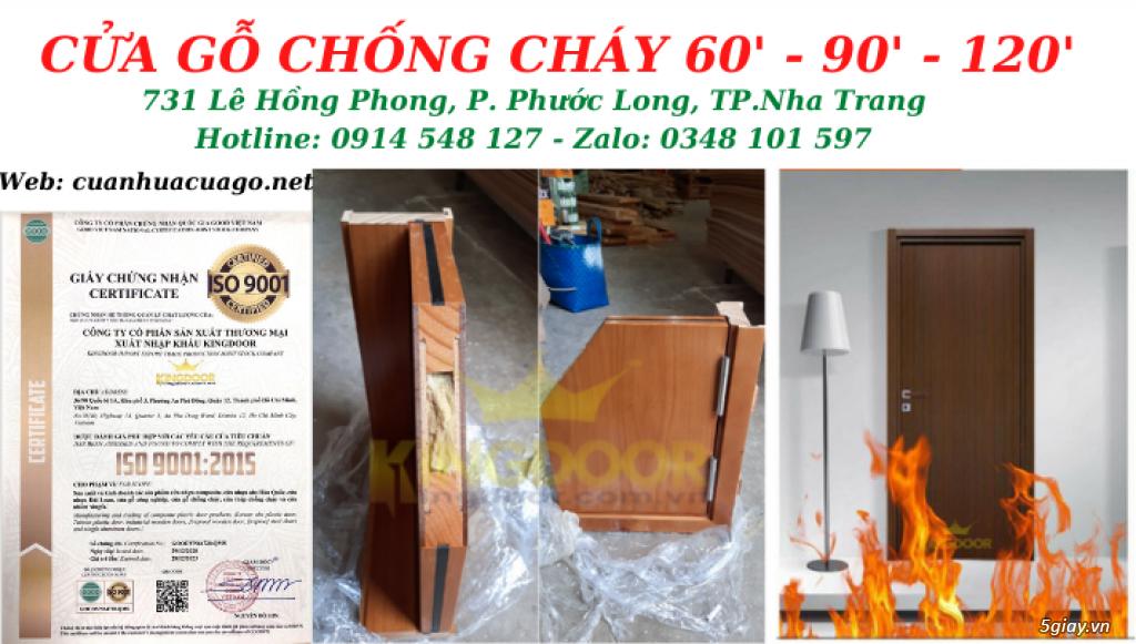 Giá cửa gỗ chống cháy tại Nha Trang - Cửa thoát hiểm KINGDOOR - 3