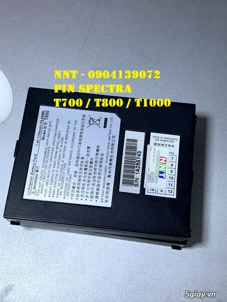Pin máy cà thẻ T700, Pin máy cà thẻ T800, Pin máy cà thẻ T100 - 6