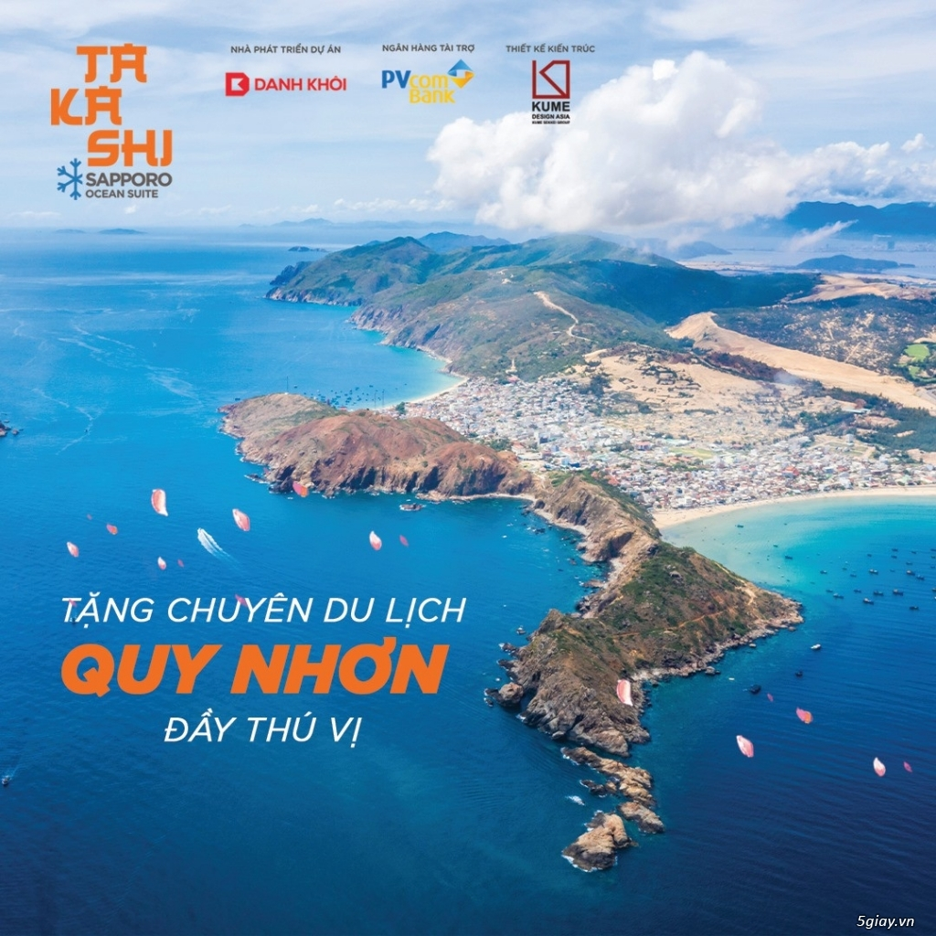 Dự án Takashi - Quy Nhơn - Căn hộ mặt tiền biển giá chỉ từ 35tr/m2 - 2